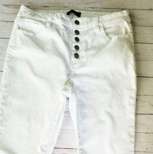 Stitchfix white crop jean